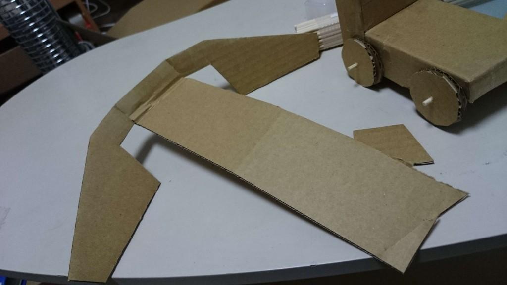 段プカー ダンプカー ダンボール 段ボール 工作 紙工作