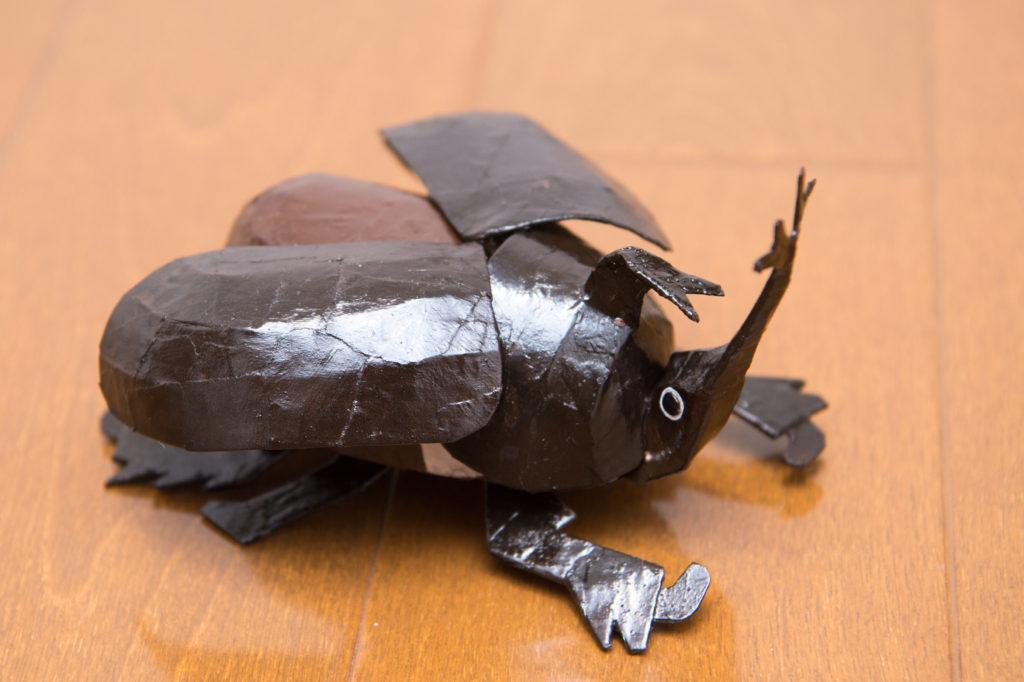 角と羽が動く、カブトムシ 紙工作